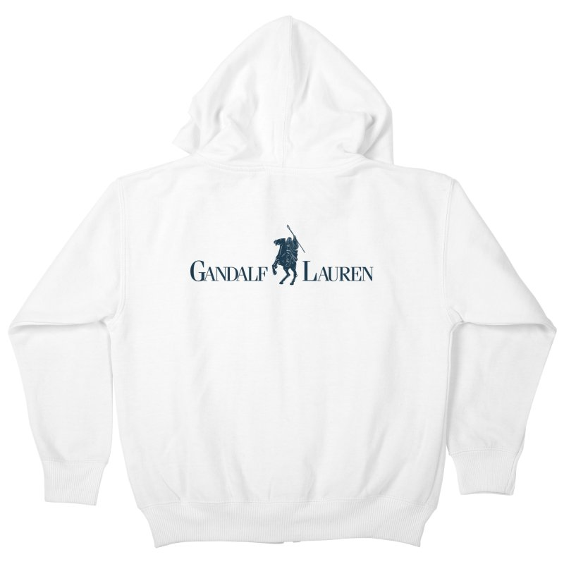 Gandalf Lauren 2 Kids Zip-Up Hoody by ikado's Artist Shop