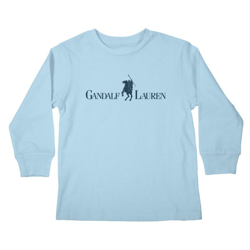 Gandalf Lauren 2 Kids Longsleeve T-Shirt by ikado's Artist Shop