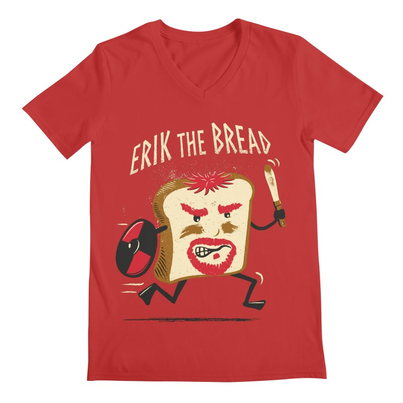 Erik the Bread Men's V-Neck by ikado's Artist Shop