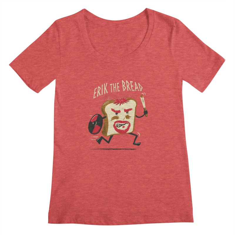 Erik the Bread Women's Scoopneck by ikado's Artist Shop
