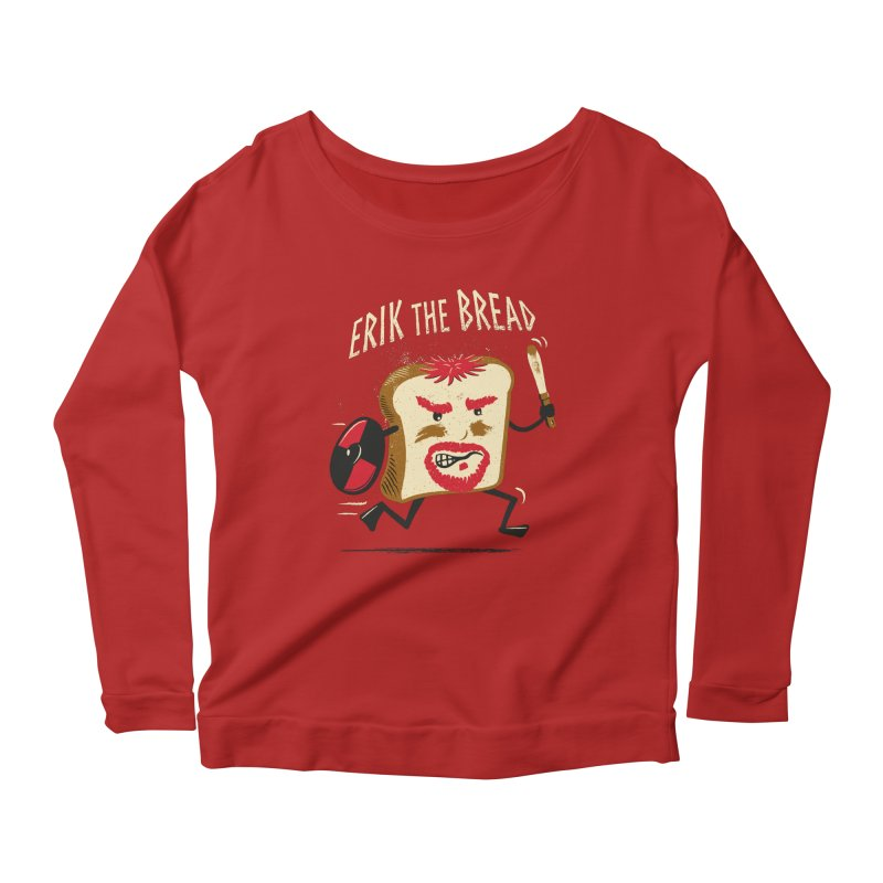 Erik the Bread Women's Longsleeve Scoopneck  by ikado's Artist Shop