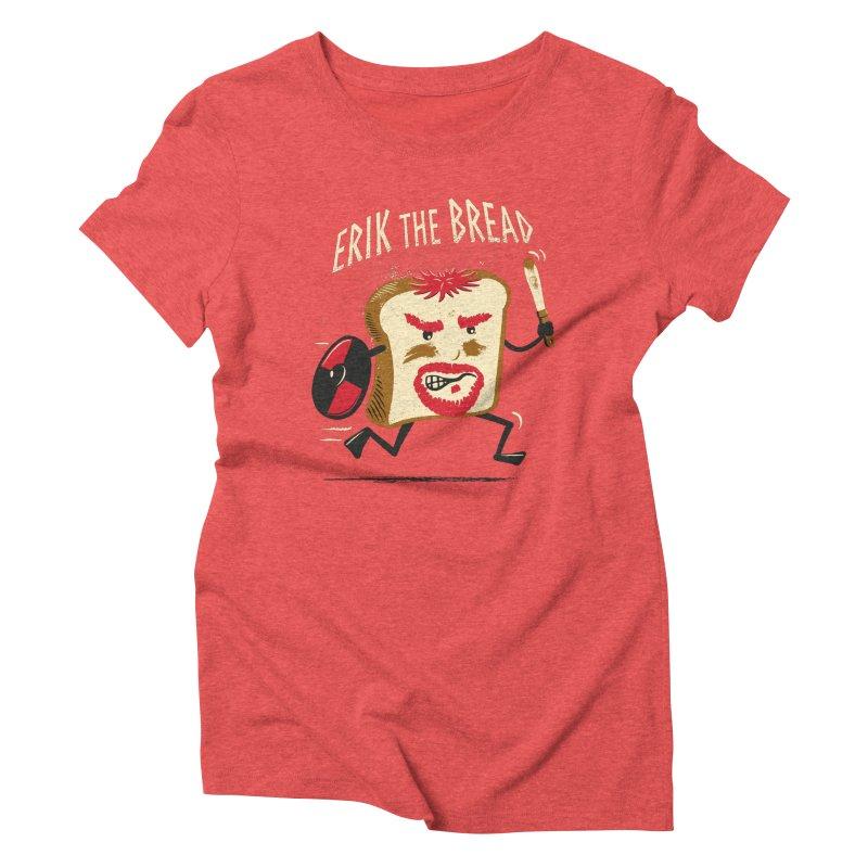 Erik the Bread Women's Triblend T-shirt by ikado's Artist Shop