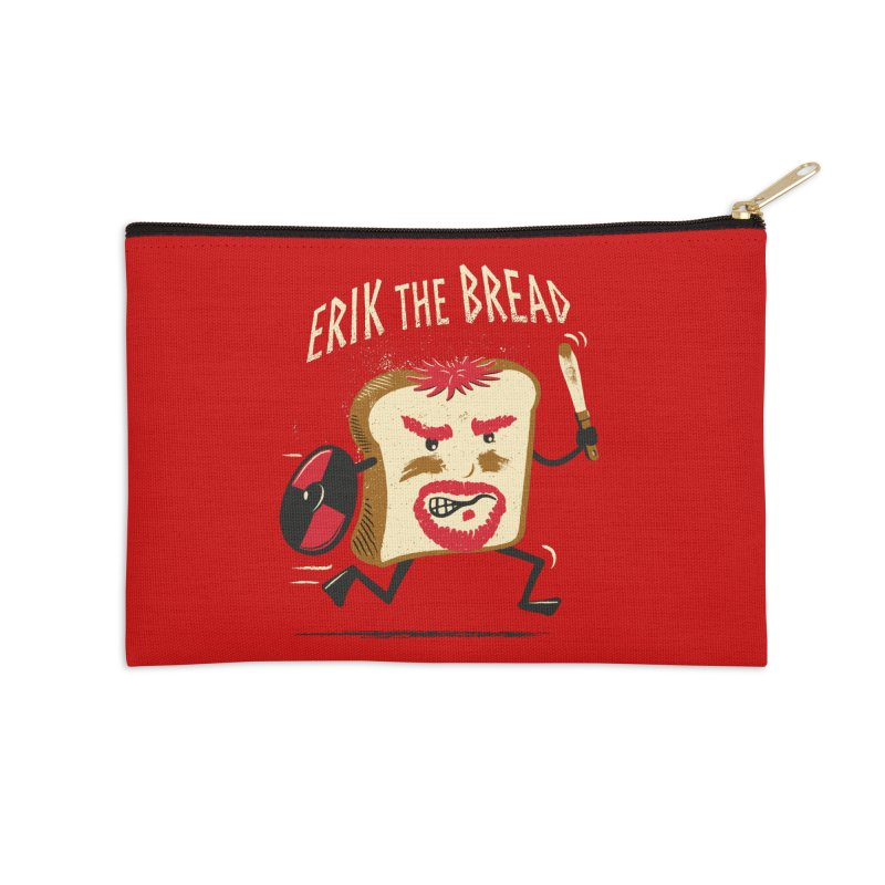 Erik the Bread Accessories Zip Pouch by ikado's Artist Shop