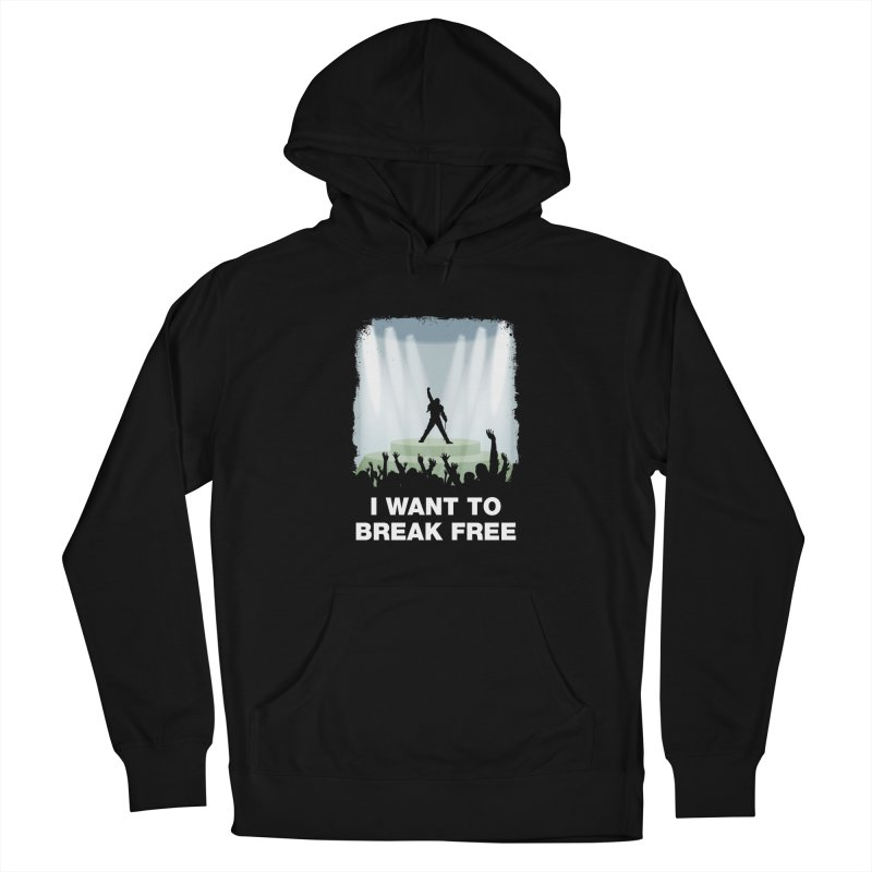 I want to break free Men's French Terry Pullover Hoody by ikado's Artist Shop
