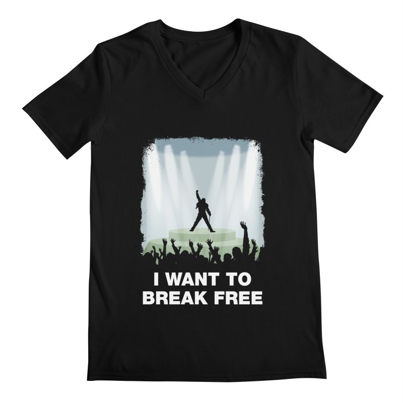 I want to break free Men's Regular V-Neck by ikado's Artist Shop