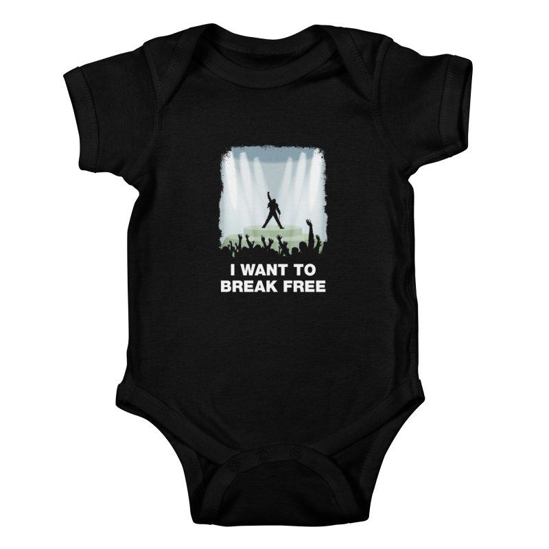 I want to break free Kids Baby Bodysuit by ikado's Artist Shop