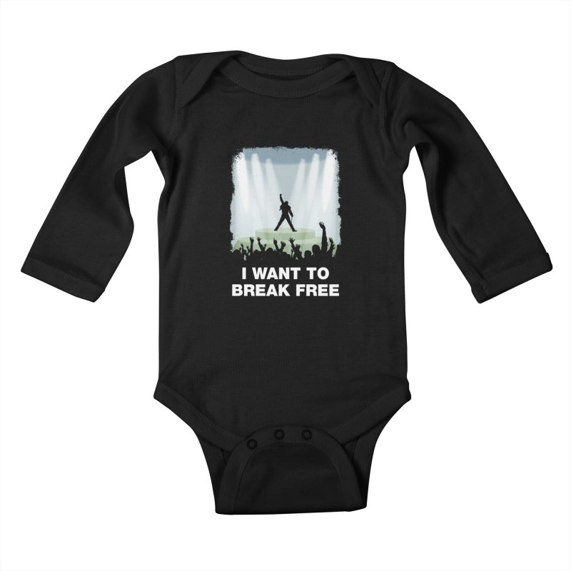 I want to break free Kids Baby Longsleeve Bodysuit by ikado's Artist Shop