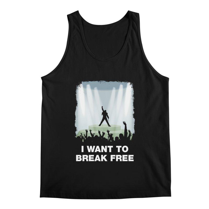 I want to break free Men's Regular Tank by ikado's Artist Shop