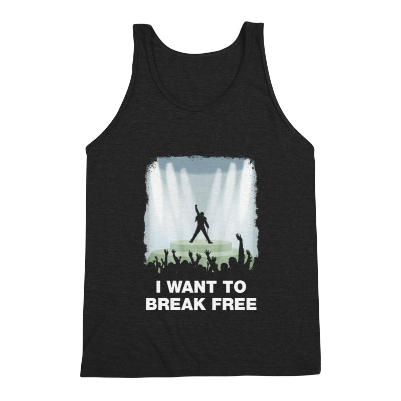 I want to break free Men's Triblend Tank by ikado's Artist Shop