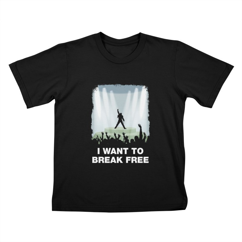 I want to break free Kids T-shirt by ikado's Artist Shop