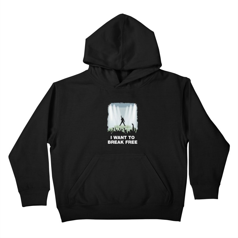 I want to break free Kids Pullover Hoody by ikado's Artist Shop