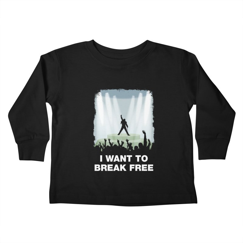 I want to break free Kids Toddler Longsleeve T-Shirt by ikado's Artist Shop