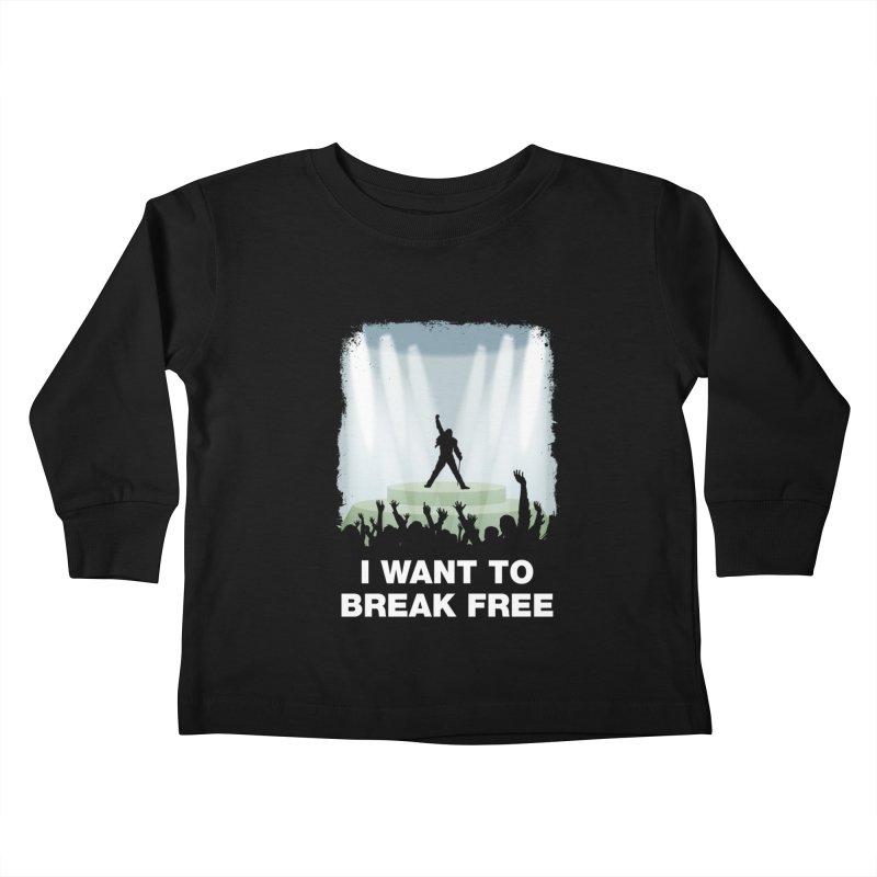 I want to break free Kids Toddler Longsleeve T-Shirt by ikado's Artist Shop
