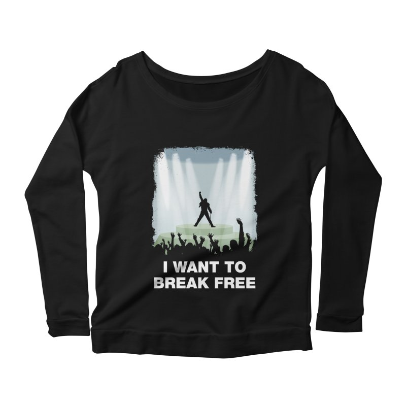 I want to break free Women's Longsleeve Scoopneck  by ikado's Artist Shop