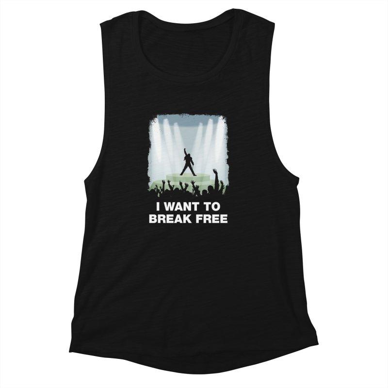 I want to break free Women's Muscle Tank by ikado's Artist Shop