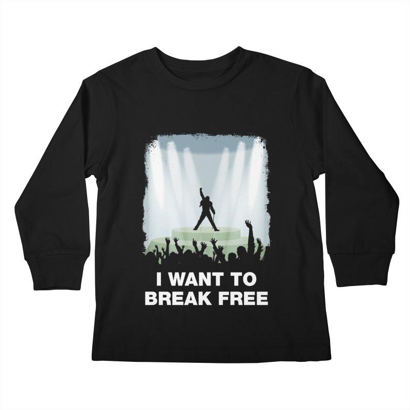 I want to break free Kids Longsleeve T-Shirt by ikado's Artist Shop