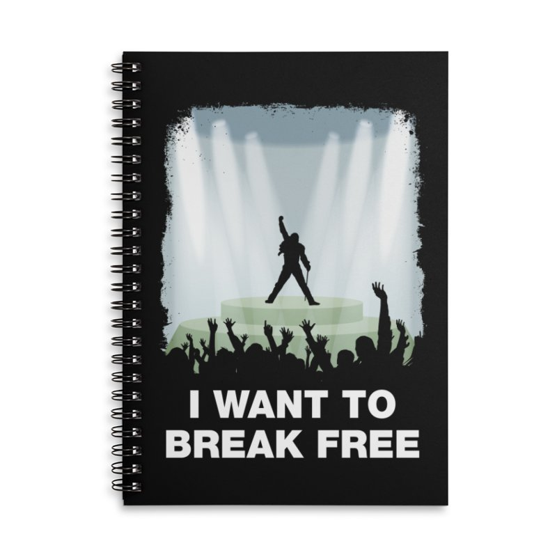 I want to break free Accessories Lined Spiral Notebook by ikado's Artist Shop
