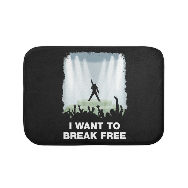 I want to break free Home Bath Mat by ikado's Artist Shop