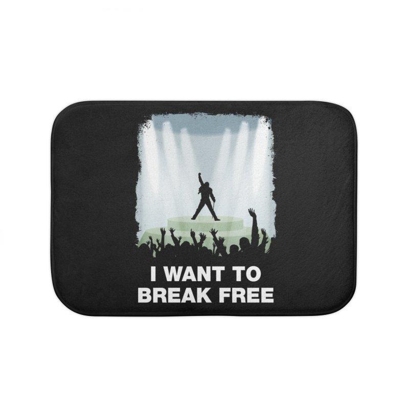 I want to break free Home Bath Mat by ikado's Artist Shop