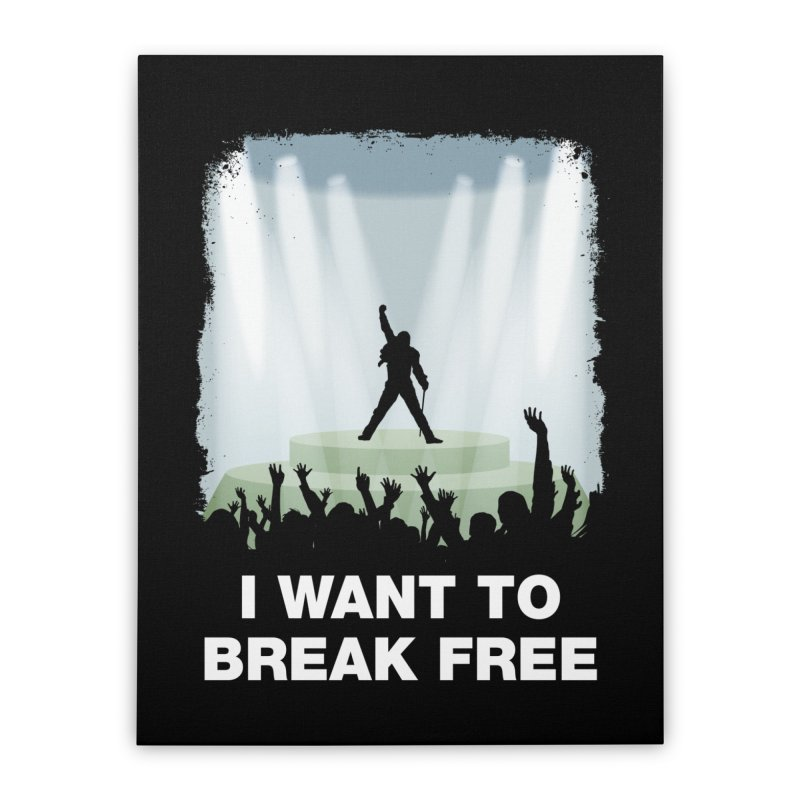 I want to break free Home Stretched Canvas by ikado's Artist Shop