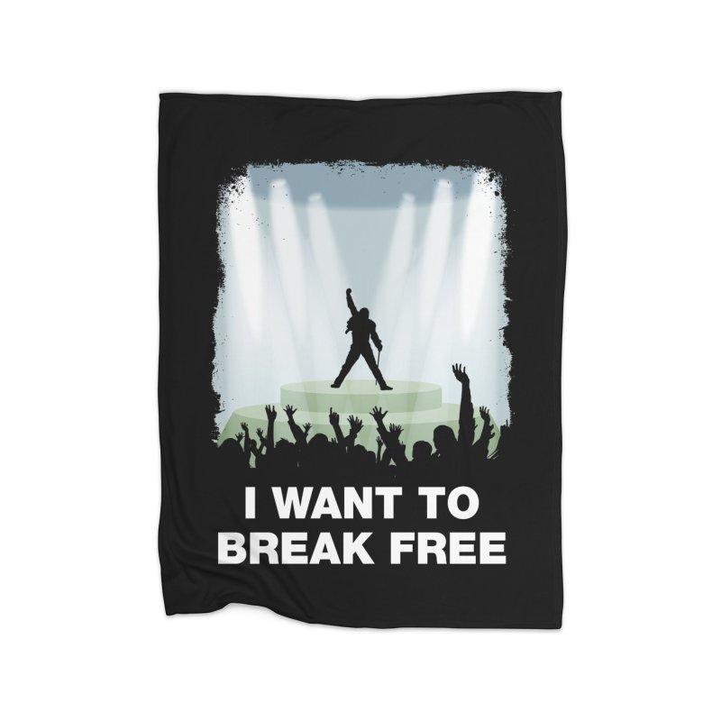 I want to break free Home Blanket by ikado's Artist Shop