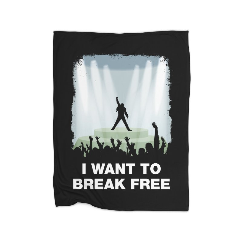 I want to break free Home Fleece Blanket Blanket by ikado's Artist Shop