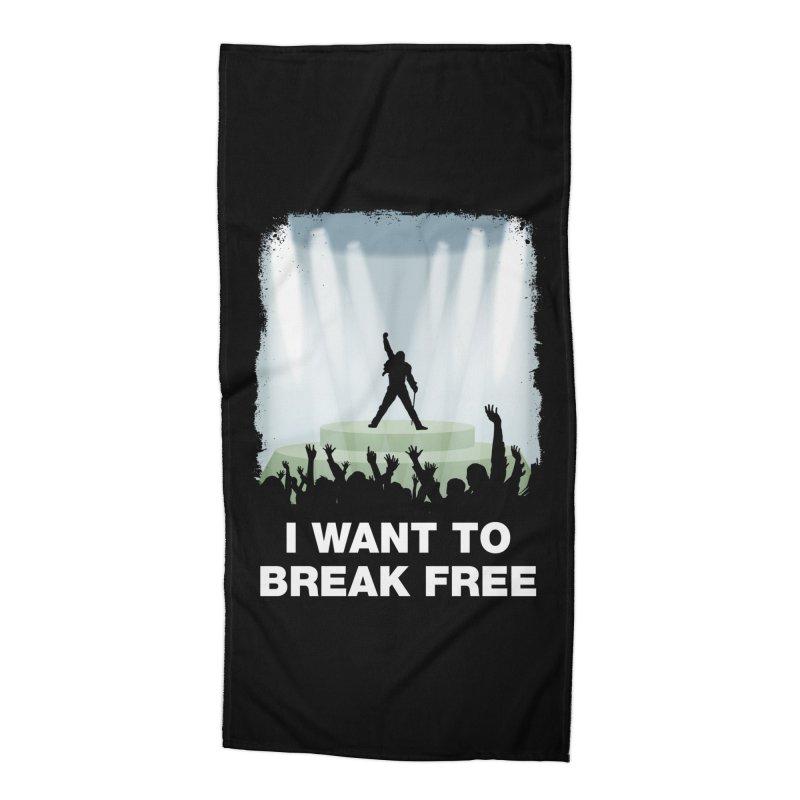 I want to break free Accessories Beach Towel by ikado's Artist Shop