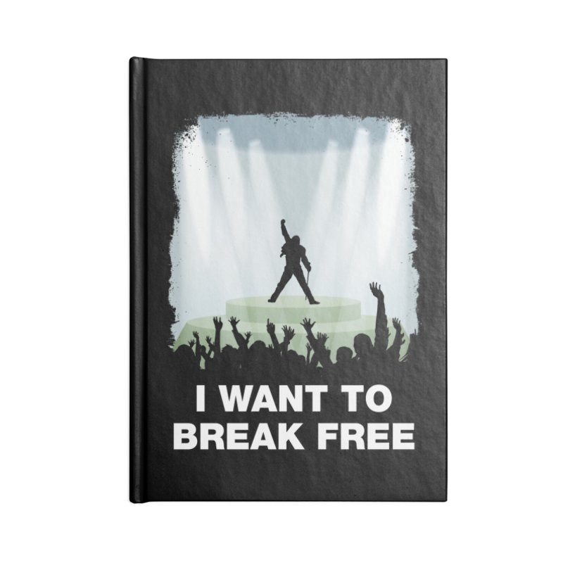 I want to break free Accessories Lined Journal Notebook by ikado's Artist Shop