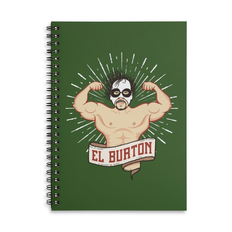 El Burton Accessories Lined Spiral Notebook by ikado's Artist Shop