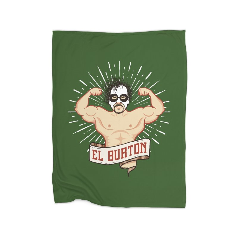 El Burton Home Fleece Blanket Blanket by ikado's Artist Shop