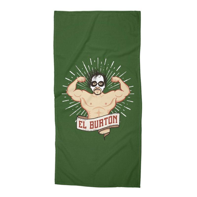 El Burton Accessories Beach Towel by ikado's Artist Shop