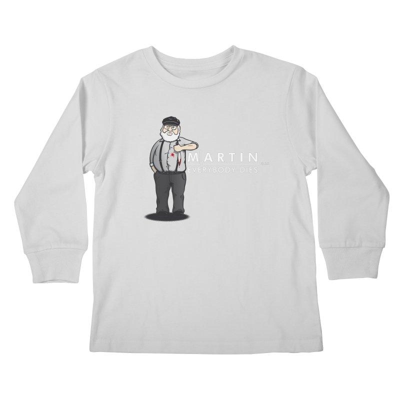 Everybody Dies Kids Longsleeve T-Shirt by ikado's Artist Shop