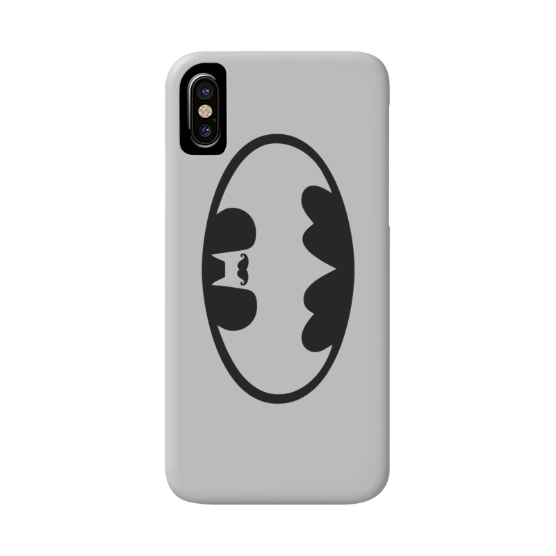 Bat-stache Accessories Phone Case by ikado's Artist Shop