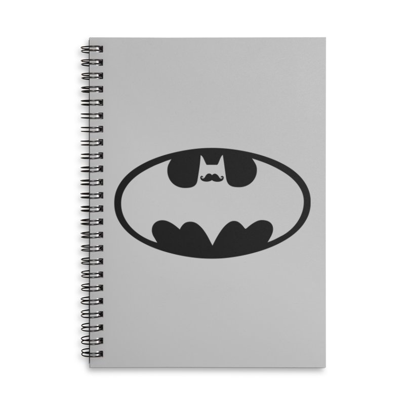 Bat-stache Accessories Notebook by ikado's Artist Shop