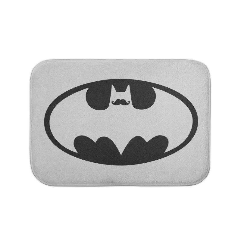 Bat-stache Home Bath Mat by ikado's Artist Shop