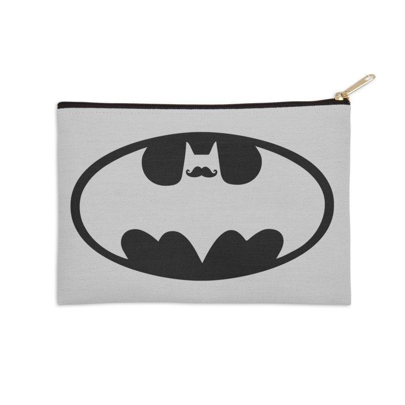 Bat-stache Accessories Zip Pouch by ikado's Artist Shop