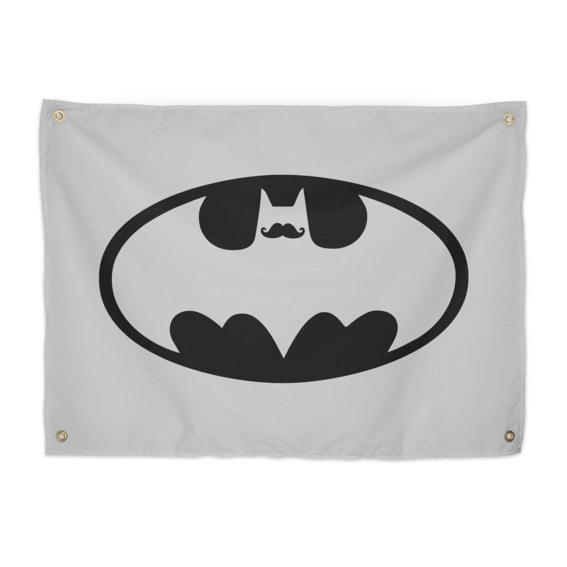 Bat-stache Home Tapestry by ikado's Artist Shop