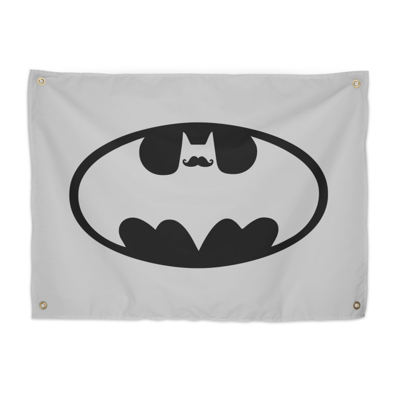 Bat-stache Home Tapestry by ikado's Artist Shop