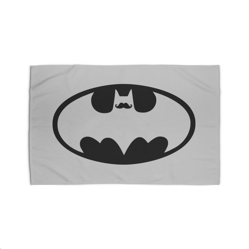 Bat-stache Home Rug by ikado's Artist Shop