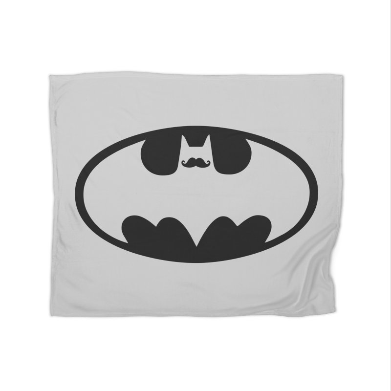 Bat-stache Home Fleece Blanket Blanket by ikado's Artist Shop