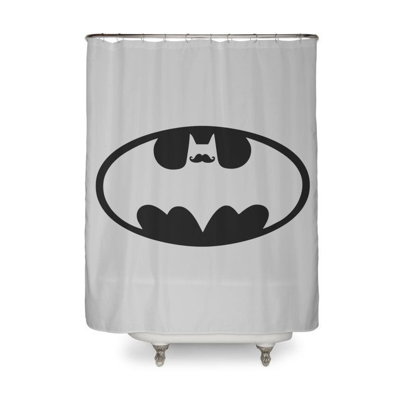 Bat-stache Home Shower Curtain by ikado's Artist Shop