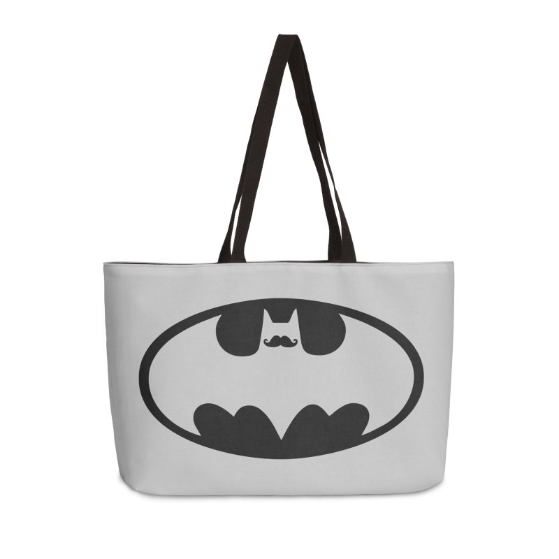 Bat-stache Accessories Weekender Bag Bag by ikado's Artist Shop
