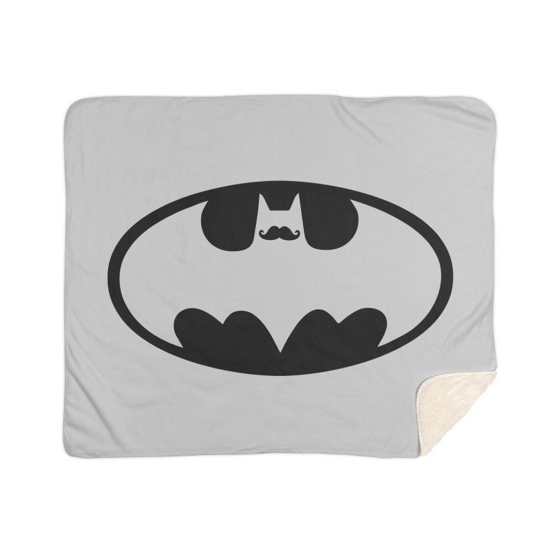Bat-stache Home Sherpa Blanket Blanket by ikado's Artist Shop