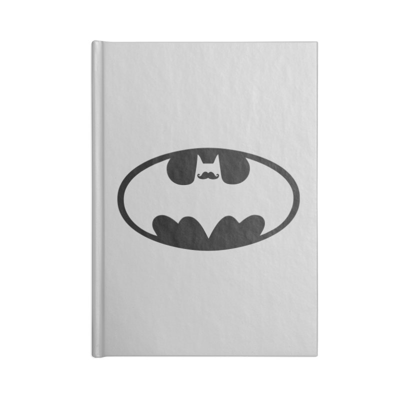 Bat-stache Accessories Lined Journal Notebook by ikado's Artist Shop