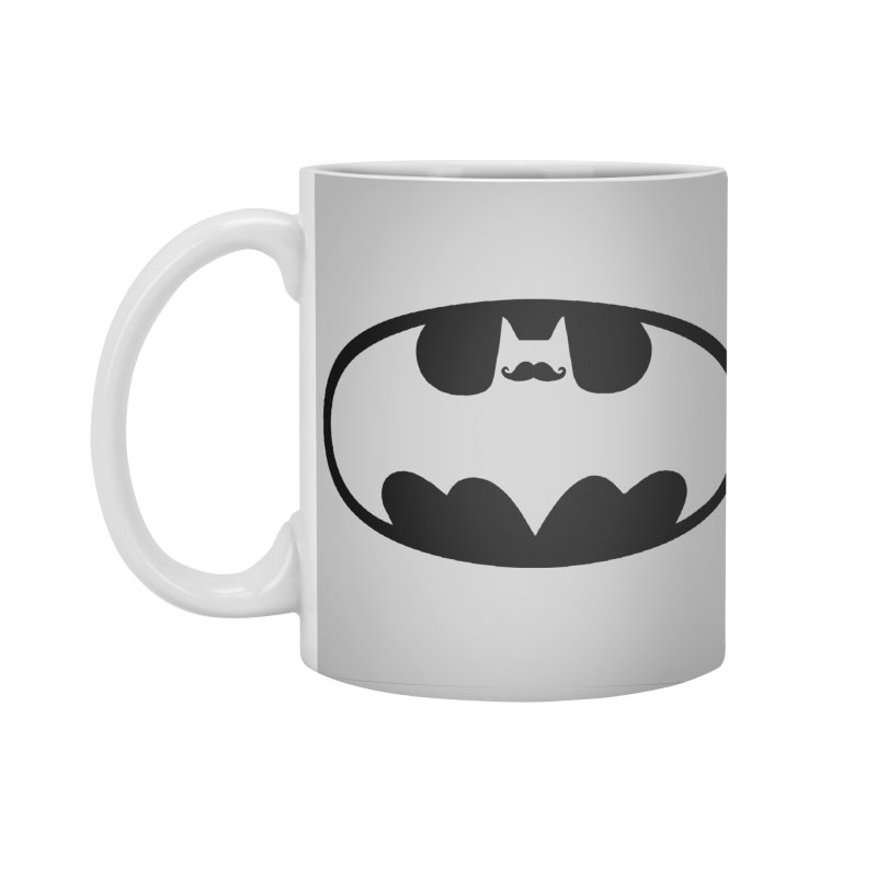 Bat-stache Accessories Standard Mug by ikado's Artist Shop