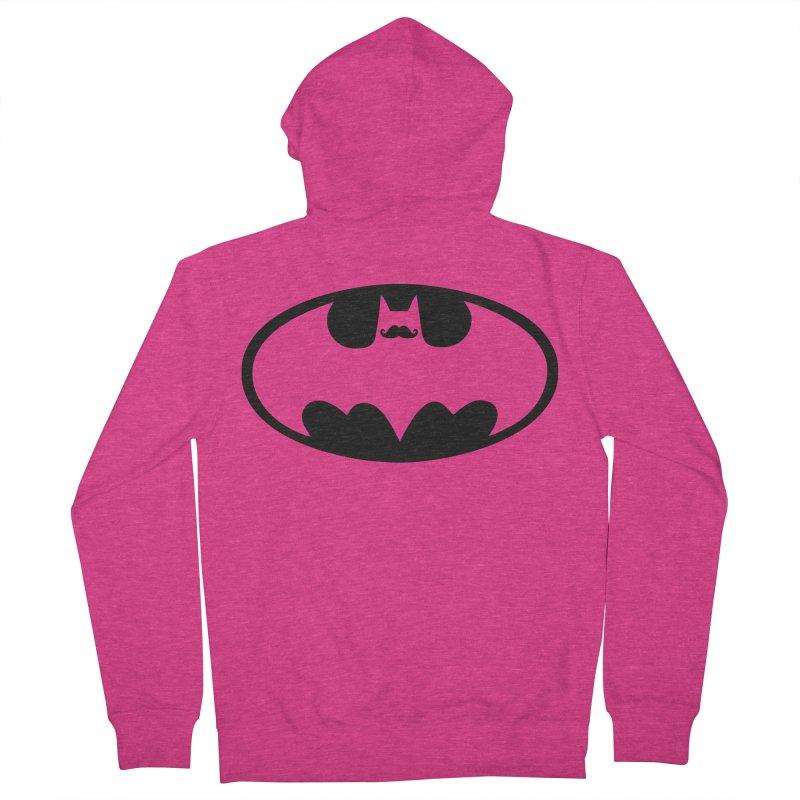 Bat-stache Women's Zip-Up Hoody by ikado's Artist Shop
