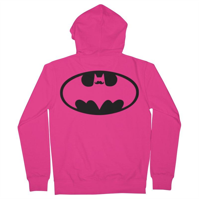 Bat-stache Men's Zip-Up Hoody by ikado's Artist Shop
