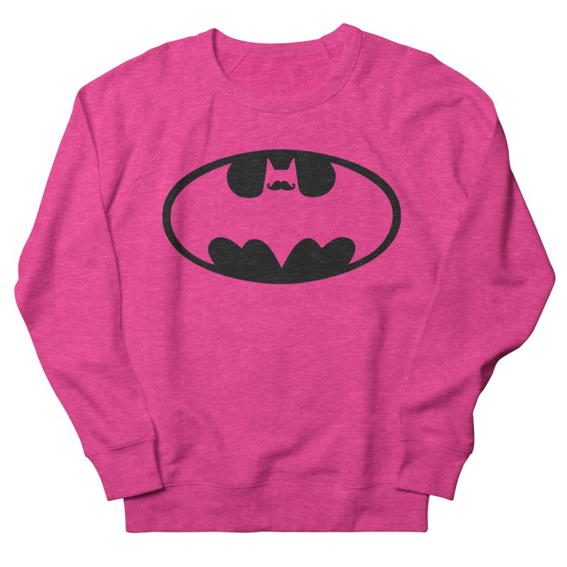 Bat-stache Men's Sweatshirt by ikado's Artist Shop
