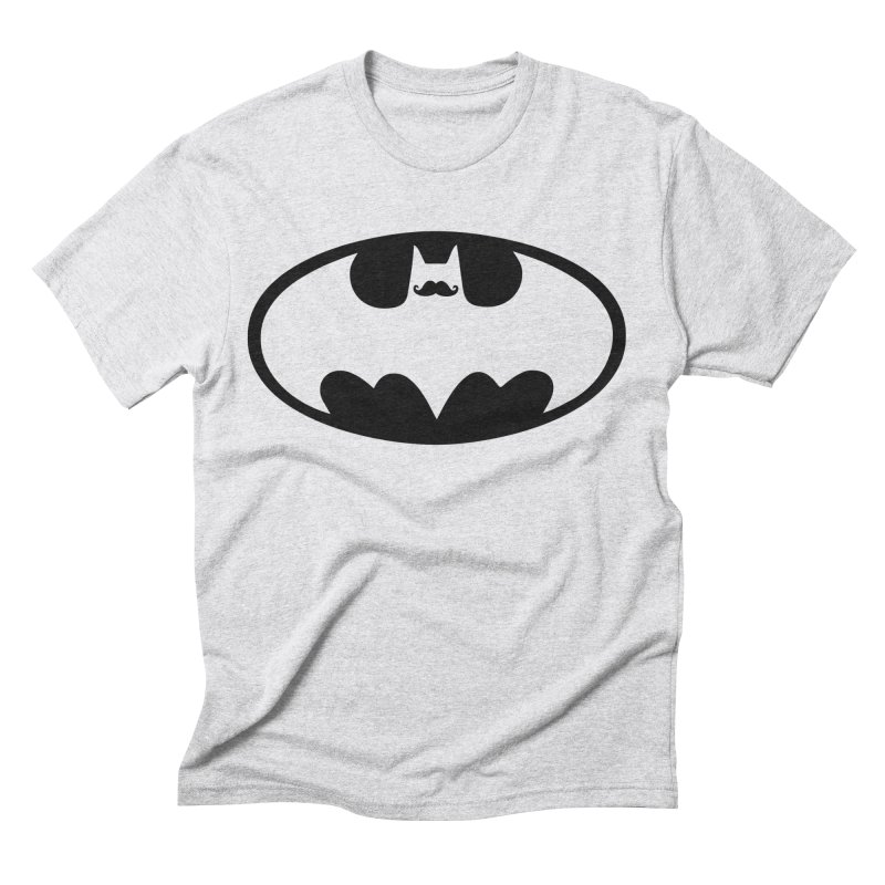 Bat-stache Men's Triblend T-Shirt by ikado's Artist Shop