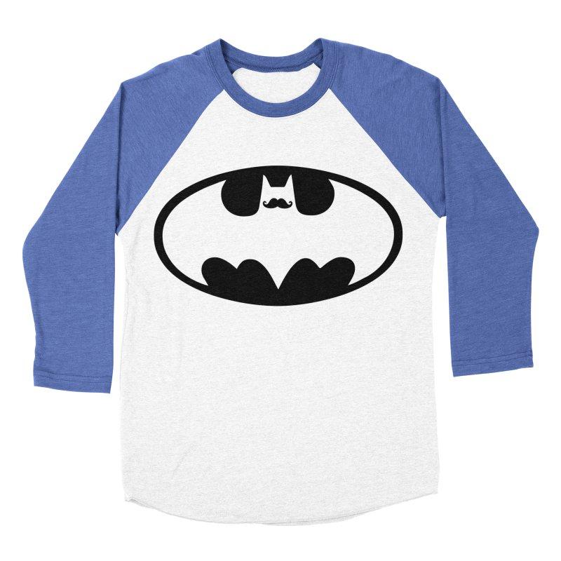 Bat-stache Women's Baseball Triblend T-Shirt by ikado's Artist Shop